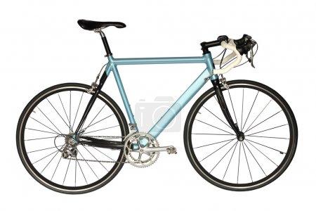 Photo pour Sport vélo de route de couleur bleue, isolé sur un fond d'affaires . - image libre de droit