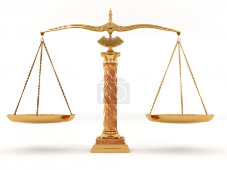 Photo for Symbol of justice. Scale. 3d - Royalty Free Image
