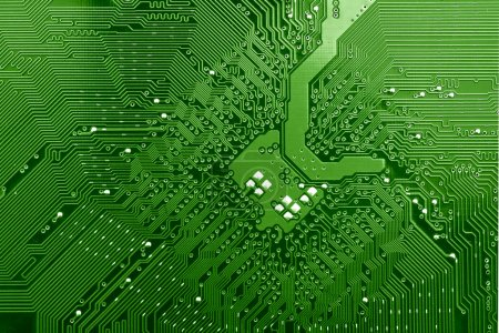 Photo for Green circuit board without components - Royalty Free Image