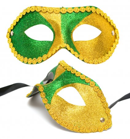 Masquerade mask isolated