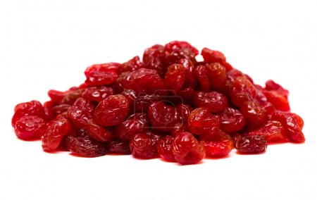 Pieces of dried cherry isolated