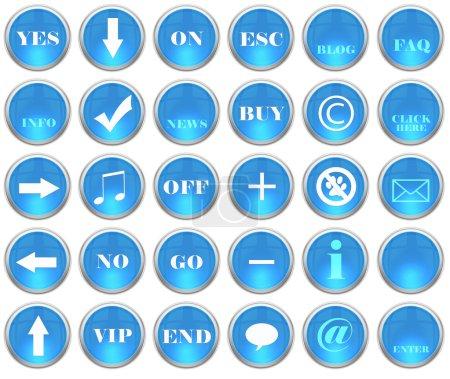 Conjunto de botones web brillantes