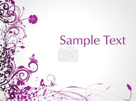Purple swirl and butterrfly illustration