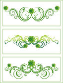 Green color clover with artistic pattern