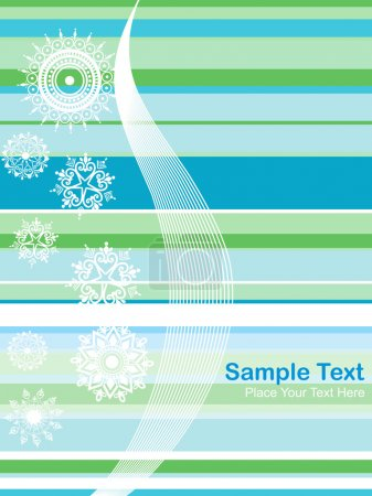 Lines background with floral design