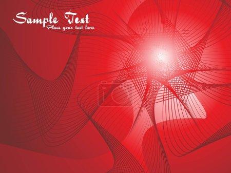 Illustration pour Résumé fond des vagues rouges avec un exemple de texte - image libre de droit