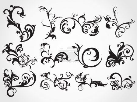 Illustration for Creative pattern scroll tattoos background - Royalty Free Image