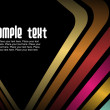 Abstract black background with colorful lines and ...
