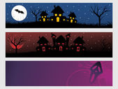Abstract halloween banner series set19