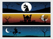 Abstract halloween banner series set20