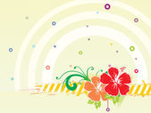 Hibiscus flower and bubbles, wallpaper