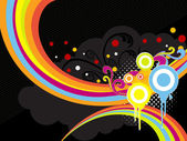 Grungy colorful artwork illustration