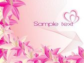 Abstract design with beautiful flower