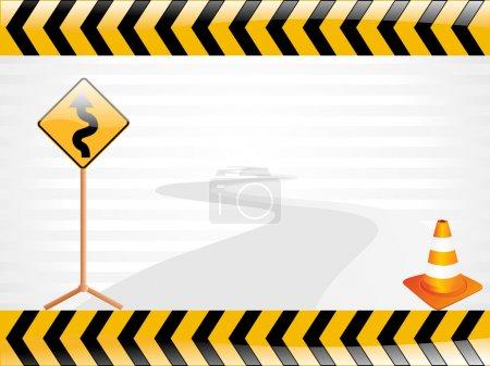 Illustration pour Illustration vectorielle de panneau de route, papier peint - image libre de droit