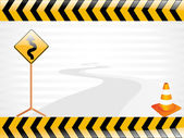 Vector road sign illustration