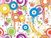 Abstract background with floral grungy colorful circle