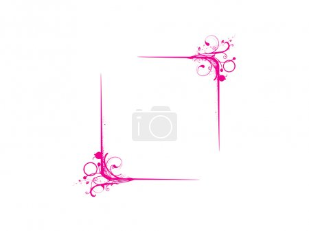 Abstract vector frame in pink