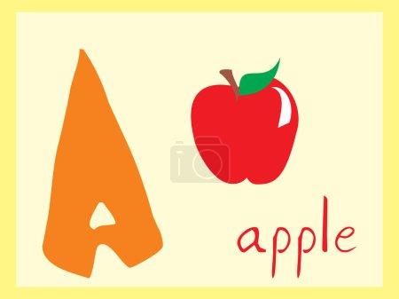 Alphabet series a, illustration