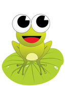 Small green frog with background