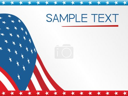 Illustration for Us flag on white background, vector illustration - Royalty Free Image