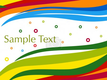 Colorful artistic stripes background