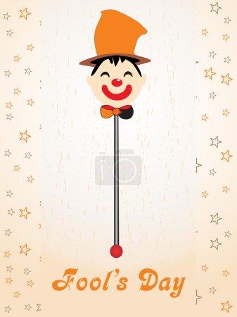 Joker face on the stick