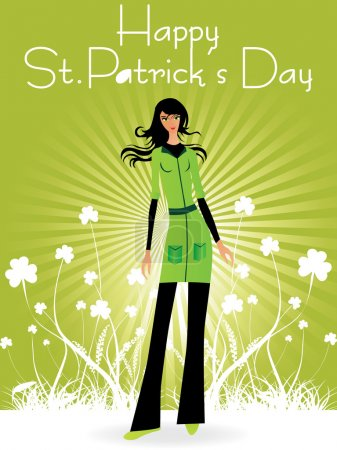 St patrick background with clover