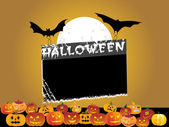 Black frame with halloween background