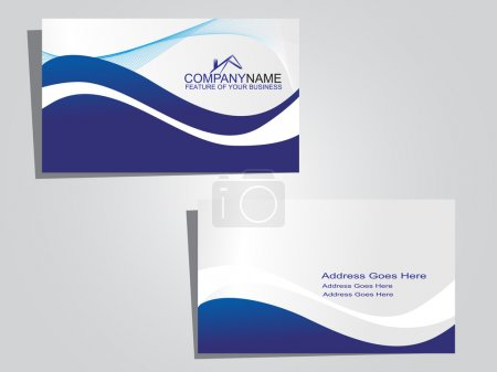 Business card with background