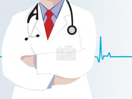 Illustration pour Fond graphique de battement de coeur avec dotor - image libre de droit