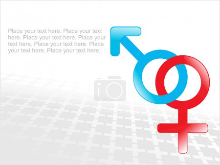 Abstract gender sign background
