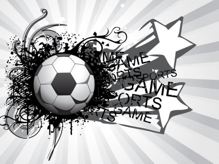 Background with grungy soccer ball