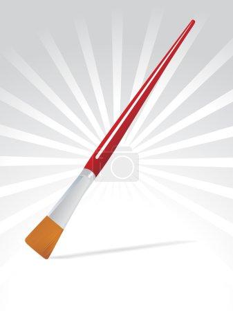 Flate edge paint brush