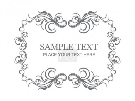 Illustration for Beautiful floral frame with place for text - Royalty Free Image