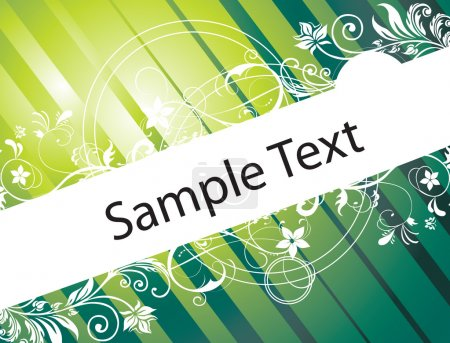 Illustration for Floral texture for sample text, in gradient green - Royalty Free Image