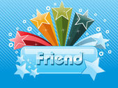 Colorful star with friendship day