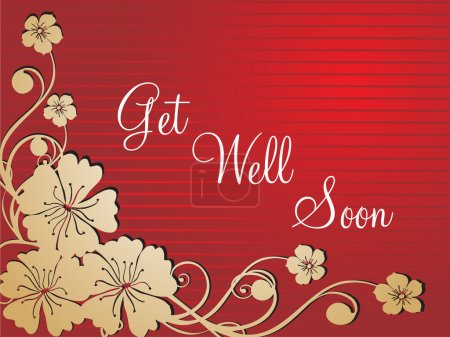 Get well soon floral series design5