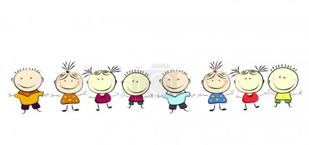 Illustration for Happy kids. - Royalty Free Image