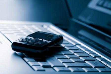 Clavier et fond de téléphone mobile