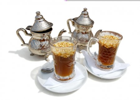 Photo for Tea with cedar nutlets on-tunisia - Royalty Free Image