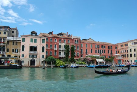 Venice Canal and gondola.