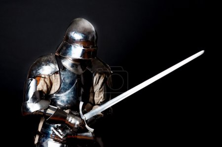 Heavy knight in combat position