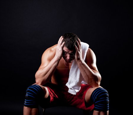 Photo for Tired sportsman after training - Royalty Free Image