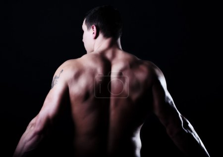 Back of muscular guy