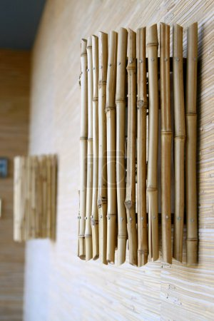 Photo for Wall lamp from bamboo - Royalty Free Image