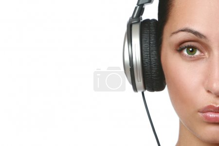 Beautiful women in headphones