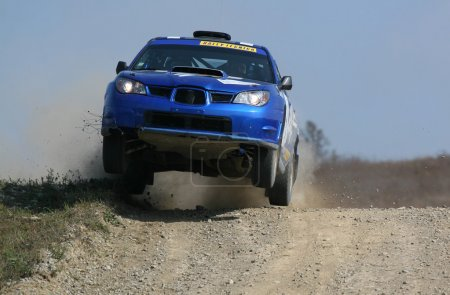 Rally Car jumping