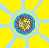 The bright psychodelic sun