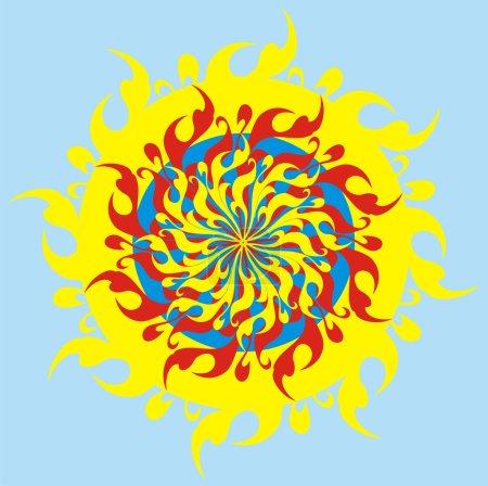 The psychodelic sun