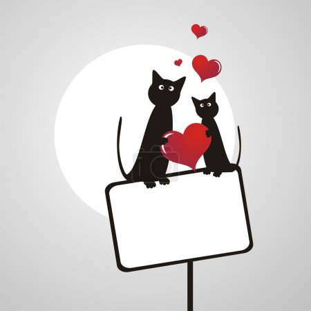 Illustration for Heart Valentines Day background - Royalty Free Image